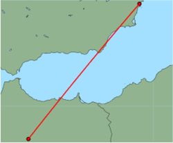 Map of route from Alicante to Fez