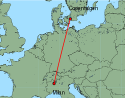 cheap flights from milan malpensa to copenhagen with