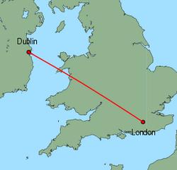 flight routes manchester ireland
