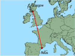 Map Of Spain Reus.Cheap Flights From Glasgow International To Reus With Fly Thomas