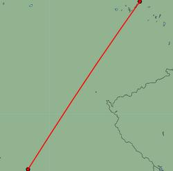 Map of route from Stuttgart to Berlin(Tegel)